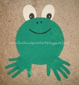 handprint_frog_craft