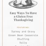 Make Thanksgiving Gluten Free, Easily!
