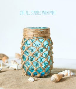 We love this creative beach themed jar from It All Started With Paint!